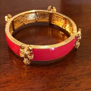 Red Enamel Lobster Cuff Bracelet NEW OS